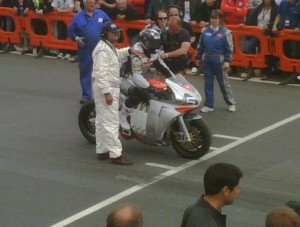 MotoCzysz E1pc At Start of IOM TT